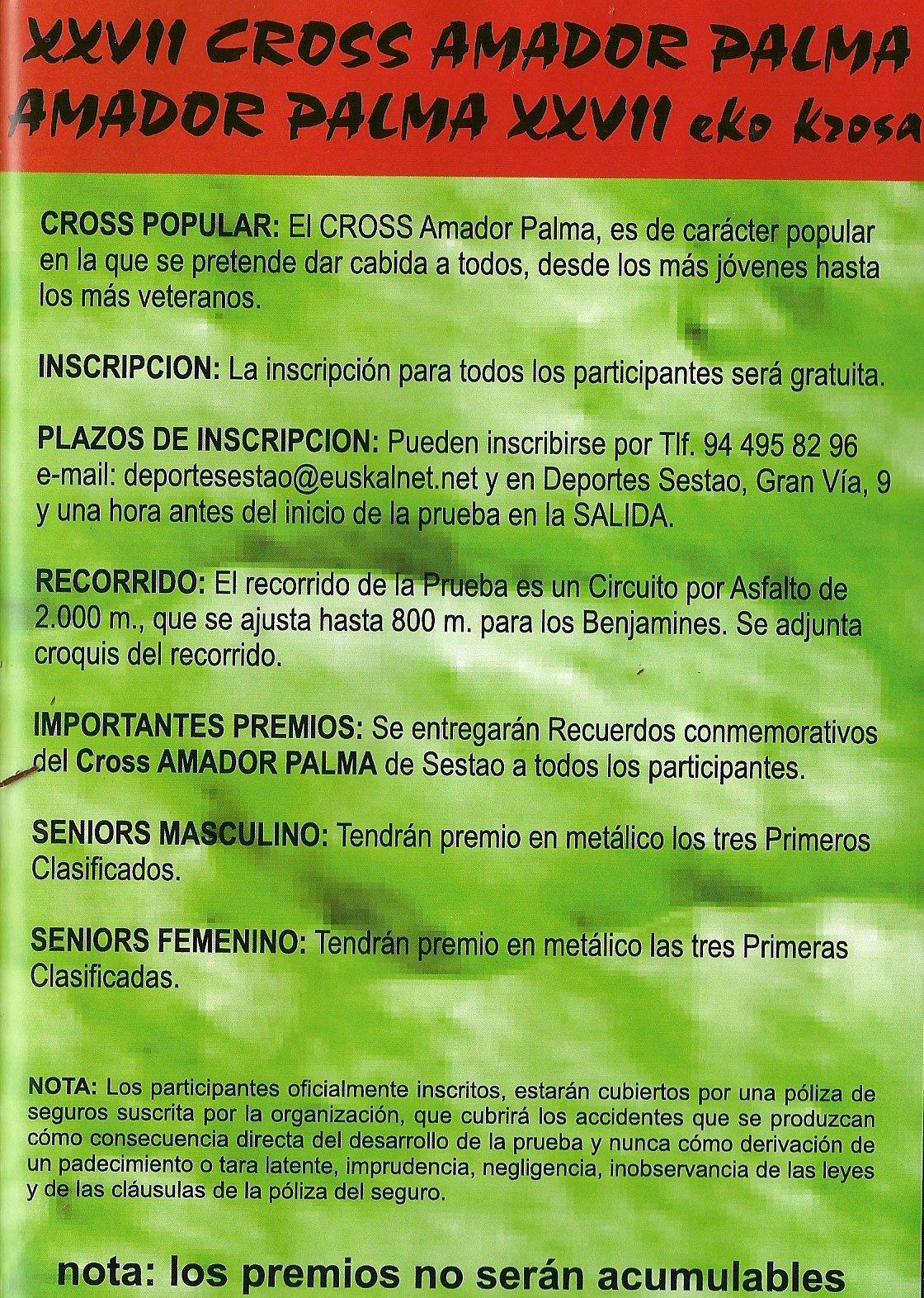 CROSS AMADOR DE PALMA