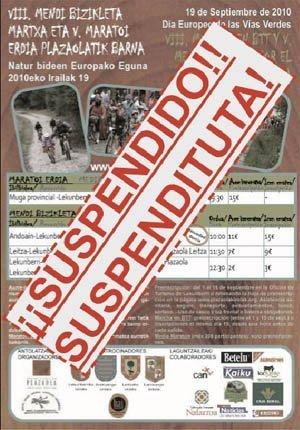 V. MEDIA MARATON DEL PLAZAOLA (BERTAN BEHERA – SUSPENDIDO)
