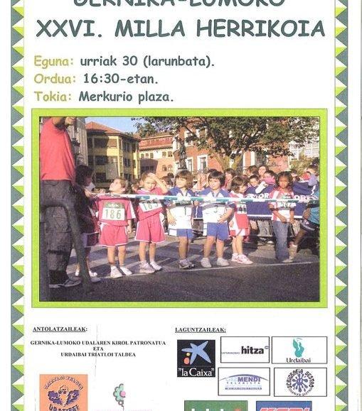 XXVI. GERNIKA-LUMOKO MILIA HERRIKOIA