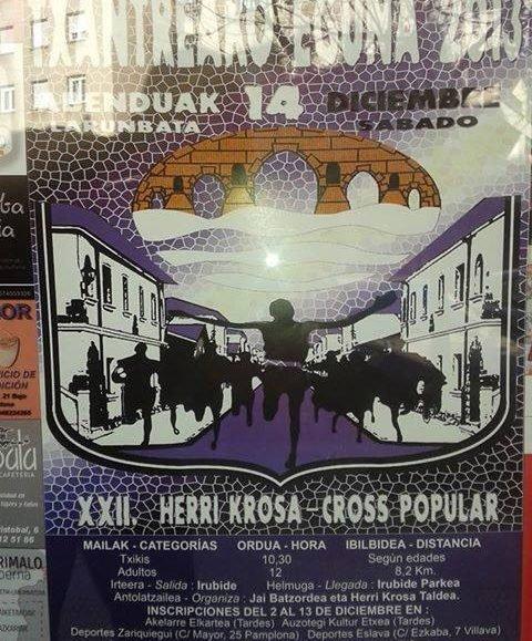 XXV. TXANTREAKO HERRI KROSA – CROSS POPULAR DE LA TXANTREA