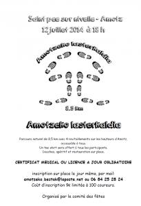 AMOTZEKO LASTERKALDIA – LES FOULEES D'AMOTZ 2014