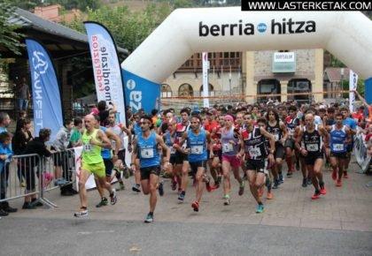 Aritz Egea eta Maite Maiora nagusi Idiazabalgo Axari Trail proban