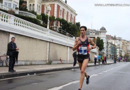 Pedro Nimo, sin rival en el campeonato de España de Maratón de San Sebastián