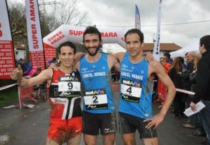 Maite Maiora eta Aritz Egea Urnietako mendi lasterketako eta Euskal Herriko txapeldunak