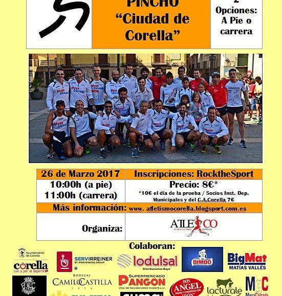 """II. CARRERA MOSCATEL & PINCHO """"CIUDAD DE CORELLA"""" – 2017"""