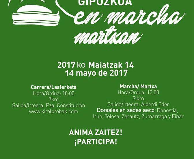 MINBIZIAREN AURKAKO LASTERKETA - CARRERA CONTRA EL CANCER