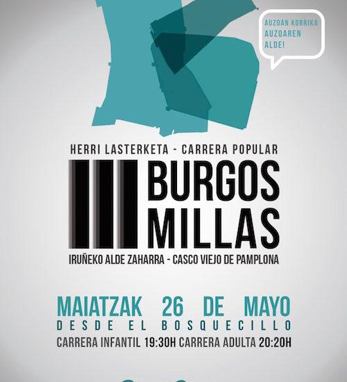 TRES BURGOS / TRES MILLAS - HERRI LASTERKETA - CARRERA POPULAR - 2017