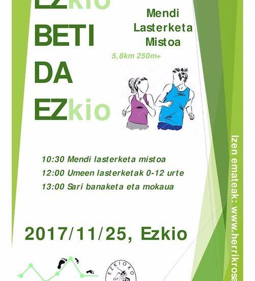I. EZKIOKO MENDI LASTERKETA MISTOA - 2017