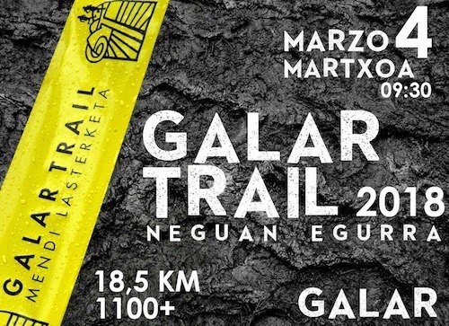 IV. GALAR TRAIL MENDI LASTERKETA - 2018