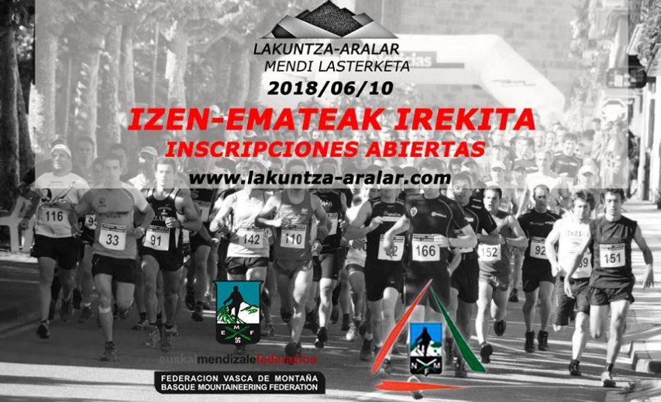 XV. LAKUNTZA – ARALAR MENDI LASTERKETA – 2018