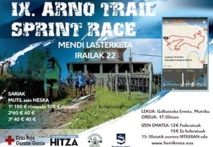 IX. ARNO TRAIL SPRINT RACE – KALBAIXOKO MENDI LASTERKETA – 2018