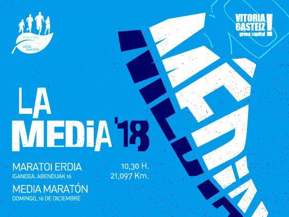 XLI. MEDIO MARATÓN VITORIA – GASTEIZKO ERDI MARATOIA – LA MEDIA – 2018