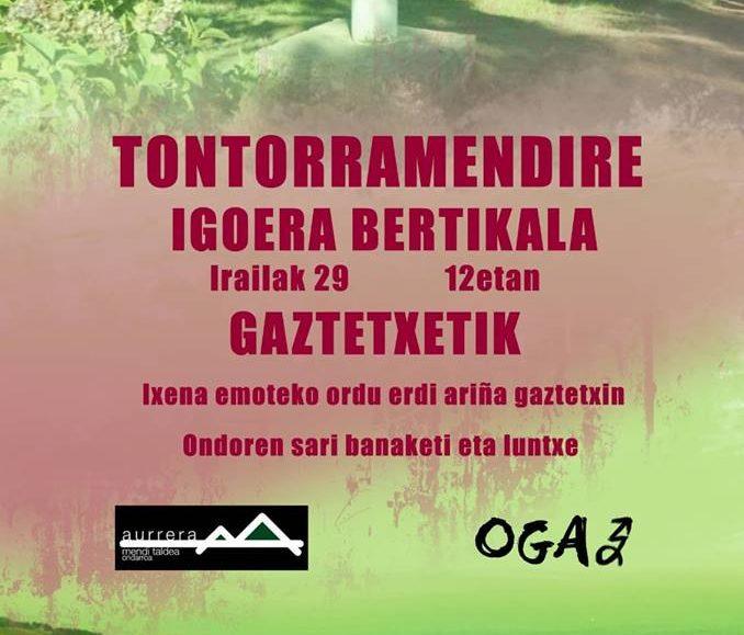 V. TONTORRAMENDIRE IGOERA BERTIKALA – 2018