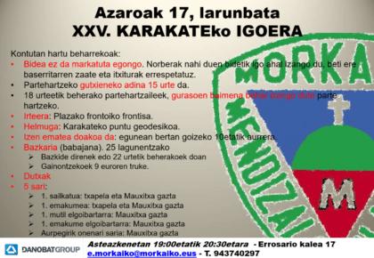 XXV. KARAKATEKO IGOERA – 2018