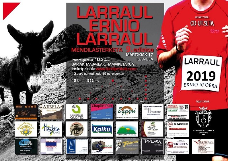IX. LARRAUL – ERNIO – LARRAUL MENDI LASTERKETA – 2019