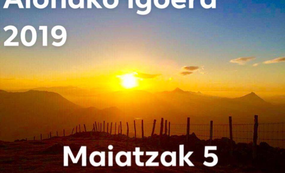 XV. ALOÑAKO IGOERA – 2019