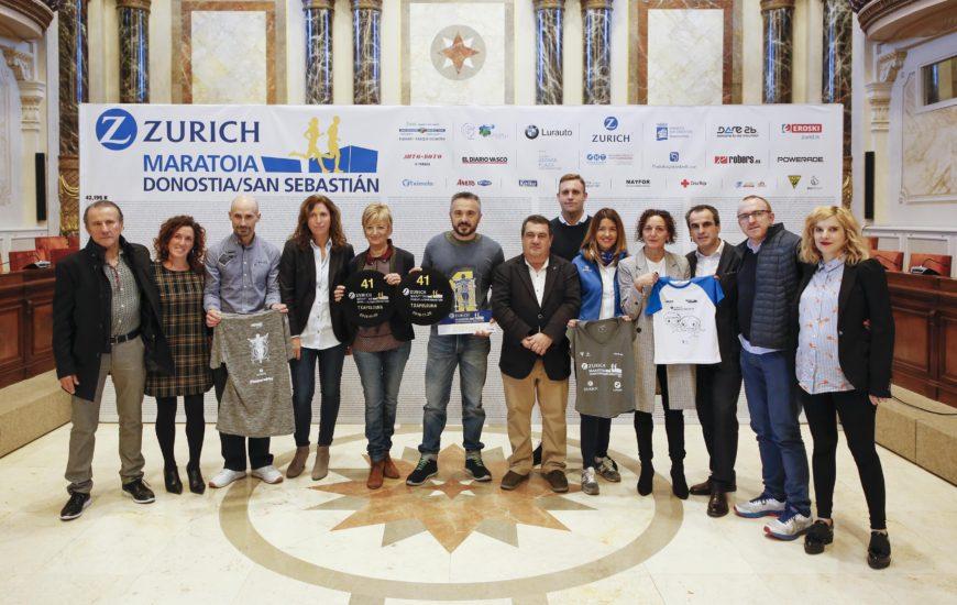 Zurich Donostiako Maratoiaren 41. edizioa aurkeztu da. Guztion maratoia.