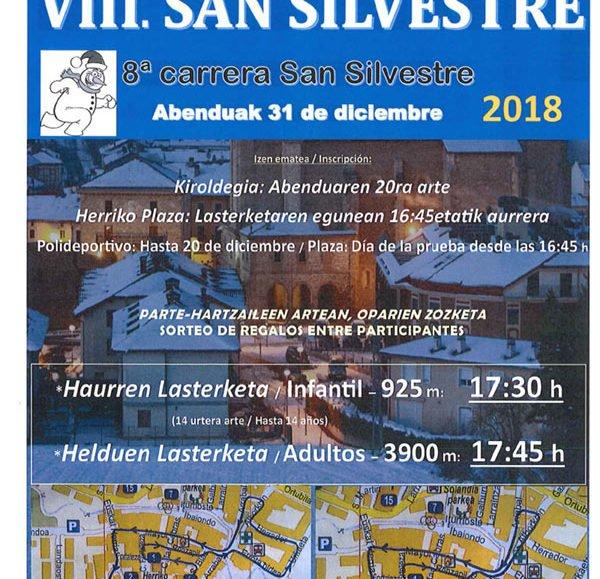 VIII. SAN SILVESTRE – ALEGRIA / DULANTZI – 2018