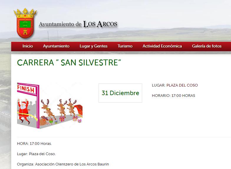 SAN SILVESTRE – LOS ARCOS – 2018