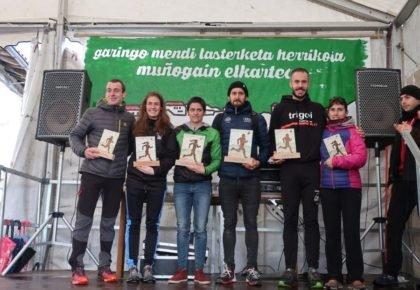 [HITZA] Sarah Ugarte eta Ander Lazkano izan dira Garingo Mendi Lasterketako garaileak