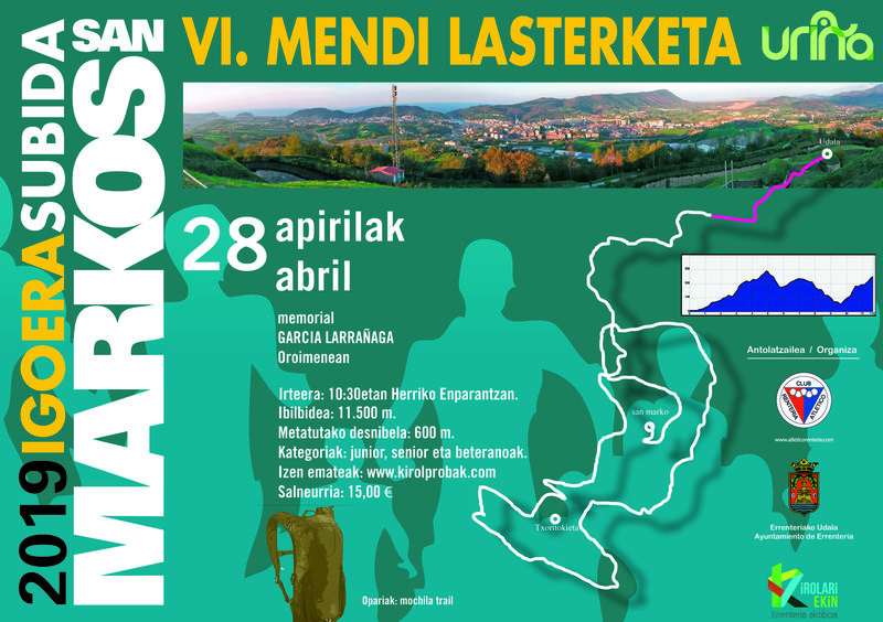XXIII. SAN MARKOS IGOERA MENDI LASTERKETA- SUBIDA A SAN MARCOS – 2019