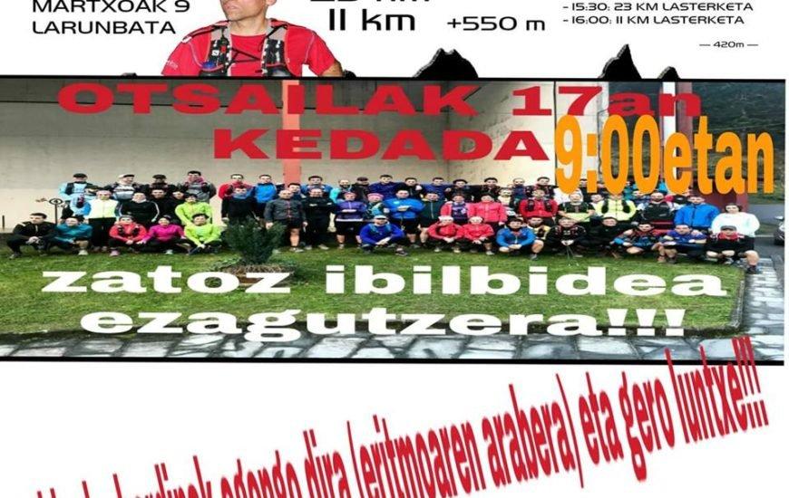 [DIARIO VASCO] 'Quedada' en Arriaran para conocer los recorridos de la carrera del 9 de marzo