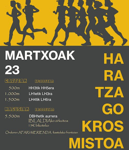 HARATZAGO KROS MISTOA – 2019
