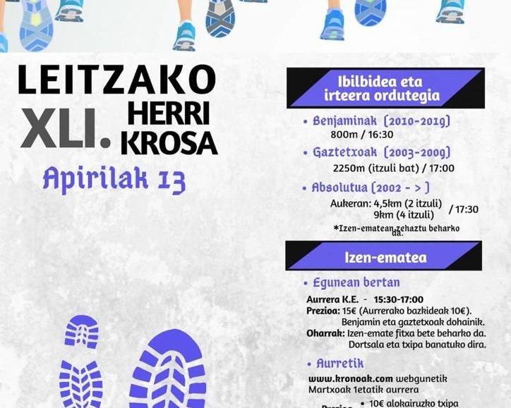 XLI. LEITZAKO HERRI KROSA – 2019