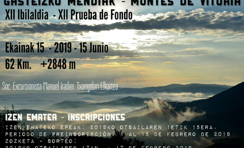 XII. GASTEIZKO MENDIAK – LOS MONTES DE VITORIA – 2019