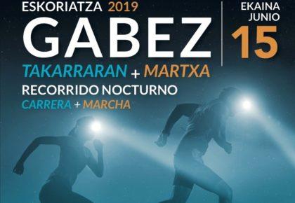 IX. GABEZ TAKARRARAN – ESKORIATZA GABEKO MENDI LASTERKETA – 2019