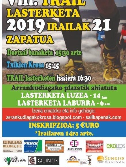 VIII. ARRANKUDIAGA-ZOLLO TRAIL LASTERKETA – 2019