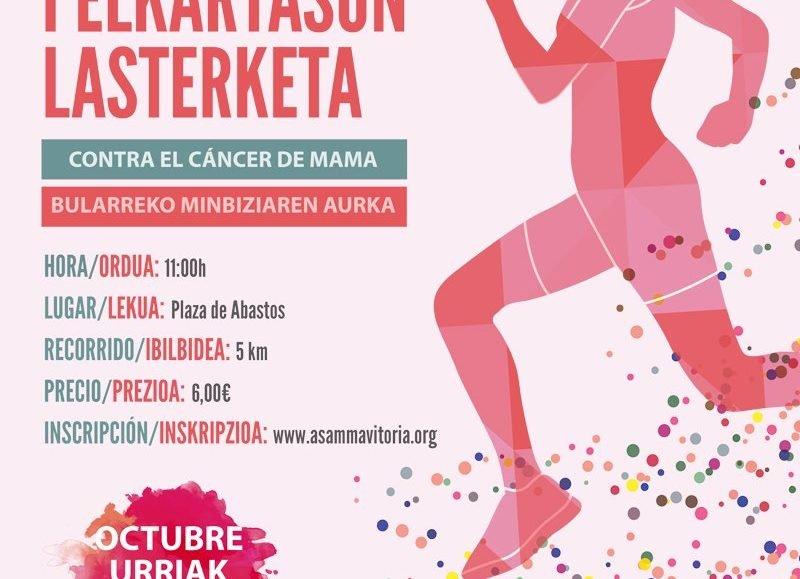 I. ELKARTASUN LASTERKETA BULARREKO MINBIZIAREN AURKA – CARRERA SOLIDARIA CONTRA EL CÁNCER DE MAMA – 2019