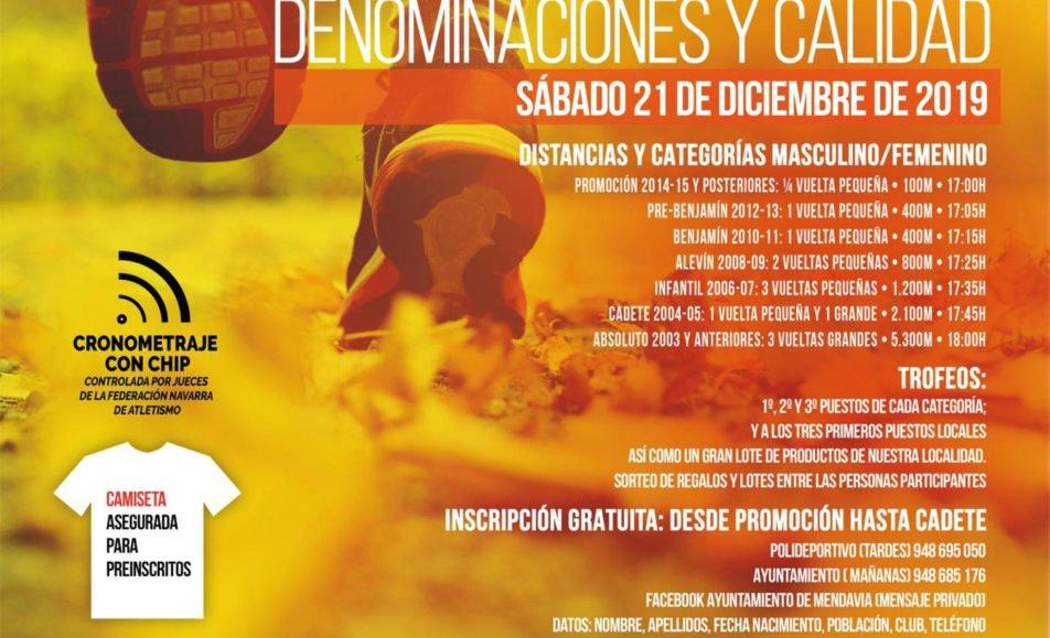 XXI. CARRERA NAVIDAD MENDAVIA – DENOMINACIONES Y CALIDAD – 2019