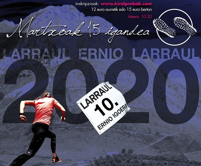 X. LARRAUL – ERNIO – LARRAUL MENDI LASTERKETA – 2020