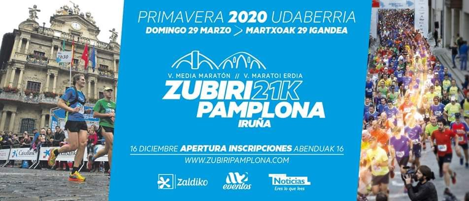 V. MEDIA MARATON ZUBIRI-PAMPLONA MARATOI ERDIA – 2020