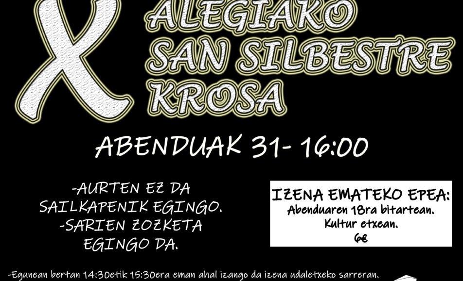 X. SAN SILVESTRE – ALEGIA – 2019