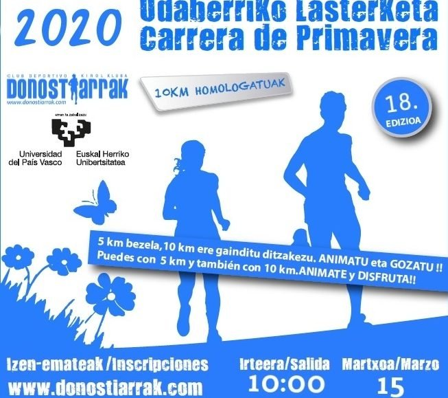 XVIII. UDABERRI LASTERKETA – CARRERA DE PRIMAVERA – 2020