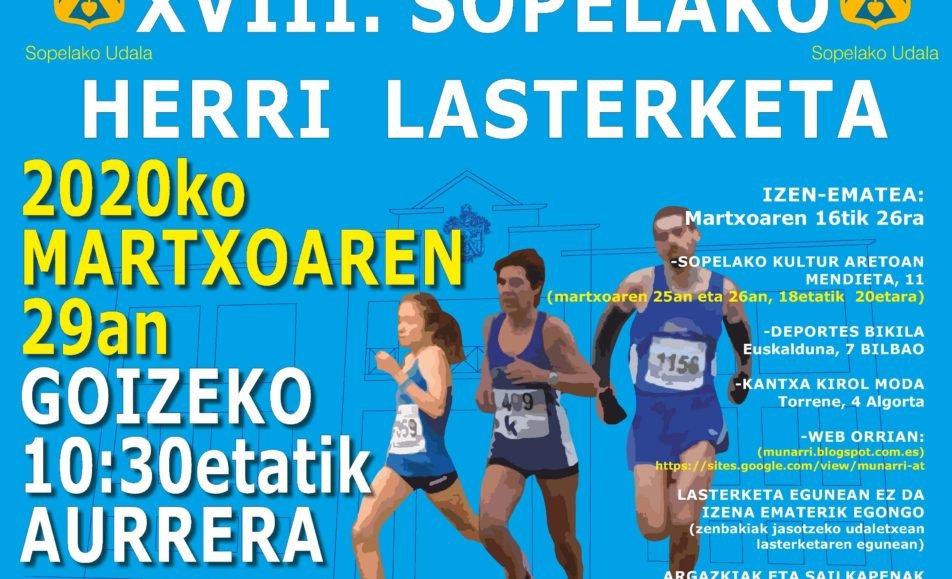 XVIII. SOPELAKO HERRI LASTERKETA – 2020