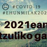 ehunmilak: SUSPENDIDAS las tres pruebas de la edición 2020